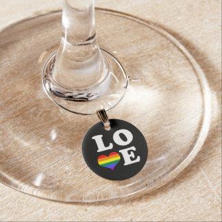 Liebe-Gay Pride-Herz Weinglas Anhänger