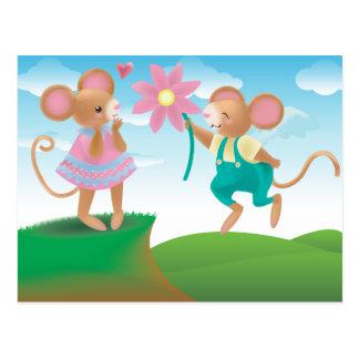 Liebe geben Ihnen Flügel Postkarte