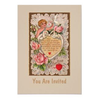 Liebe-Gedicht mit rosa Rosen 12,7 X 17,8 Cm Einladungskarte