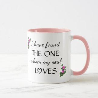 Liebe gefundene Bibel-Vers-Tasse Tasse