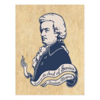 Liebe = Genie - Mozart Postkarte