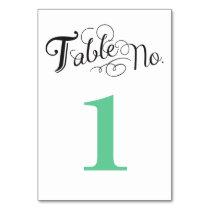 Liebe-Geschichten-Tischnummer-Karte