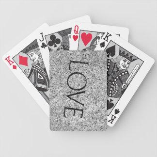 """""""Liebe-"""" geschnitzter Stein Bicycle Spielkarten"""