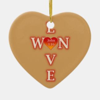Liebe gewann Herz-Verzierung Keramik Ornament