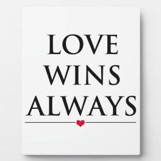 Liebe gewinnt immer fotoplatte