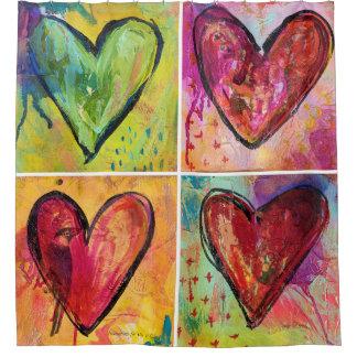 Liebe gewinnt MaryLea Harris Kunst-Duschvorhang Duschvorhang