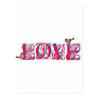 Liebe-Gitter Postkarte