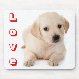 Liebe-goldener Retriever-Welpen-Hund Mousepad