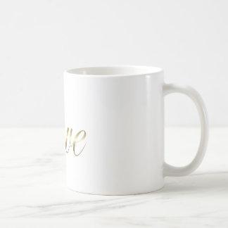 Liebe goldtone coffe Tasse