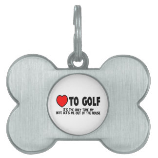 Liebe Golf zu spielen Tiermarke