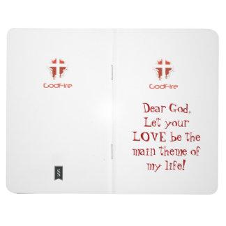 Liebe Gott-Reihen-Zeitschrift Taschennotizbuch