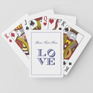 LIEBE grafischer Text - Blau Spielkarten
