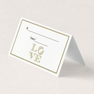 LIEBE grafischer Text - Imitat-Gold Platzkarte