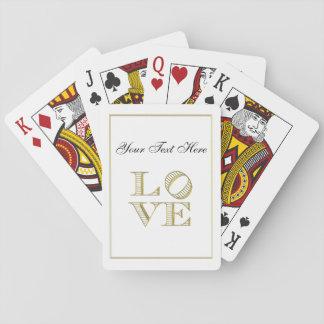 LIEBE grafischer Text - Imitat-Gold Spielkarten