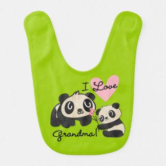 Liebe-Großmutter-Schellfisch der Panda-I Lätzchen