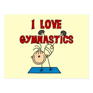 Liebe-Gymnastik des Mädchen-I Postkarte
