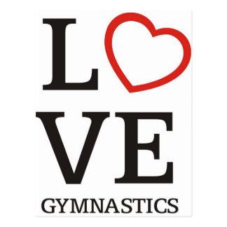 LIEBE Gymnastik Postkarte