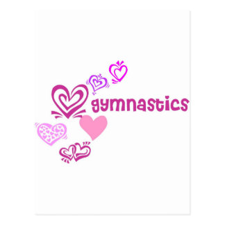 Liebe-Gymnastik Postkarte