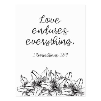 Liebe hält alles aus postkarte