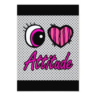 Liebe-Haltung des Emo Augen-Herz-I 12,7 X 17,8 Cm Einladungskarte