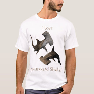 Liebe-Hammerhai-Haifisch-T - Shirt