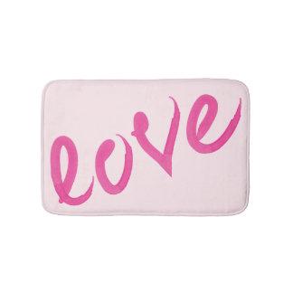 Liebe - helles rosa handgeschriebenes badematte