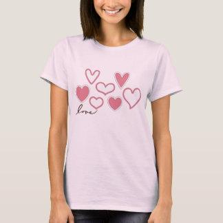 Liebe-Herz-Damenvalentines-T - Shirt