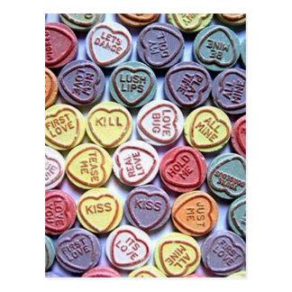 Liebe-Herz-Entwurf Postkarten