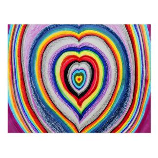 Liebe-Herz-Erweiterung Postkarten