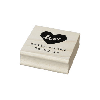 Liebe-Herz-Gewohnheits-Hochzeits-Briefmarke Gummistempel
