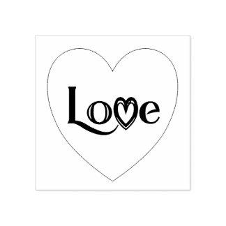 Liebe-Herz Gummistempel