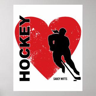 Liebe-Herz-Hockey Poster