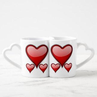 Liebe-Herz-Kaffee-Tassen-Set Liebestassen