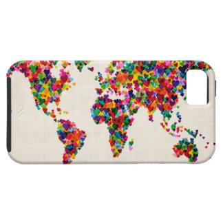 Liebe-Herz-Karte der Weltkarte iPhone 5 Schutzhüllen