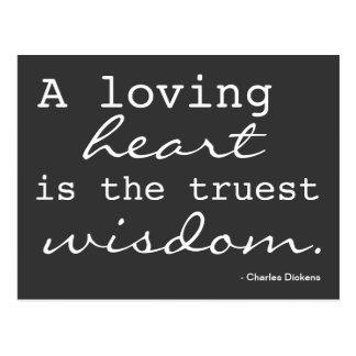 Liebe, Herz, Klugheit - inspirierte Postkarte