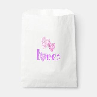 Liebe-Herz kritzelt die Bevorzugungs-Tasche des Geschenktütchen