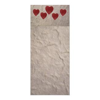 Liebe-Herz-Lesezeichen Karte