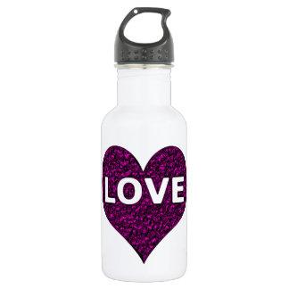 Liebe-Herz-lila Chrom Edelstahlflasche
