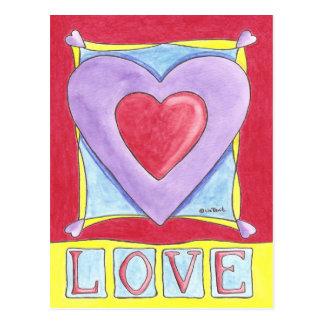 Liebe-Herz Postkarten