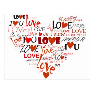 Liebe-Herz Postkarte