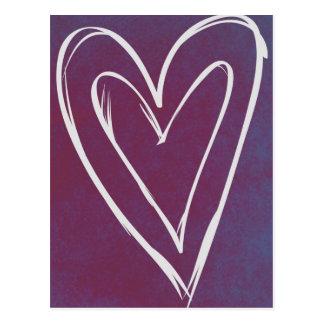 Liebe-Herz-Postkarte Postkarten