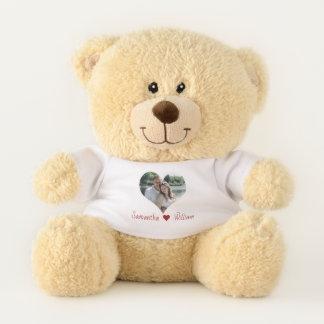 Liebe-Herz-Rahmen personalisiert Teddybär