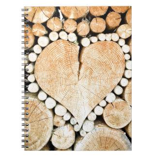 Liebe, Herz, Romance, hölzernes Mosaik Notizblock