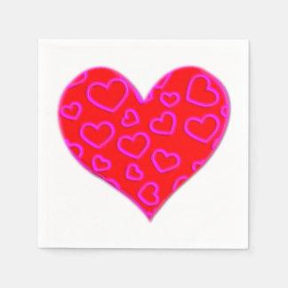 Liebe-Herz Serviette