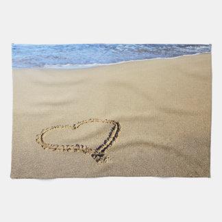 Liebe-Herz-Strand Handtuch