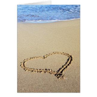 Liebe-Herz-Strand Karte