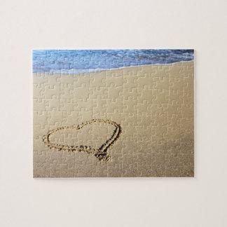 Liebe-Herz-Strand Puzzle