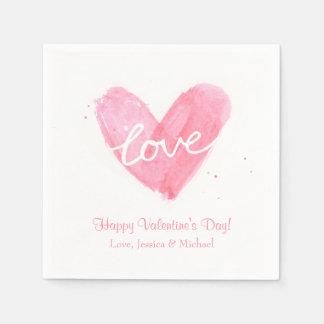 Liebe-Herz-Valentinstag-Party-Dekorationen Servietten