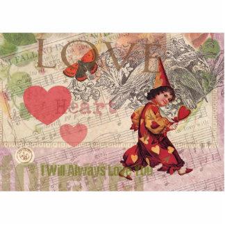 Liebe-Herz-Vintage Collage