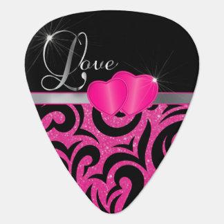 Liebe-Herzen des heißes Rosa Verder Plektrum
